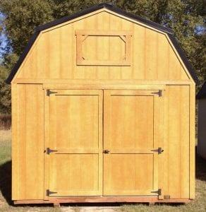 10x16 Lofted Barn - Honey Gold Image