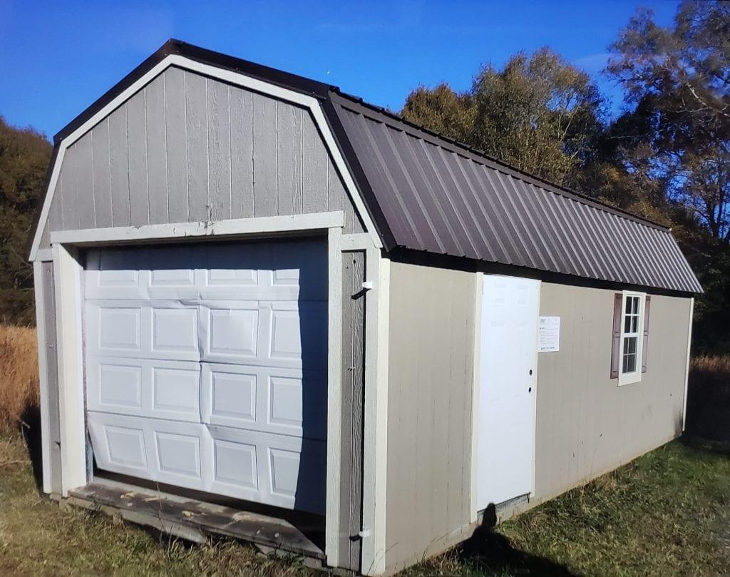 12x24 Lofted Barn Garage - CASH SALE ONLY Image