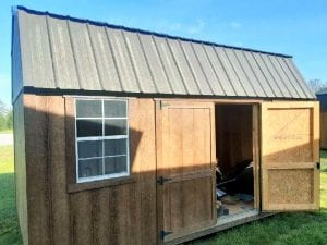 10x16 Side Lofted Barn - Chestnut Brown Image