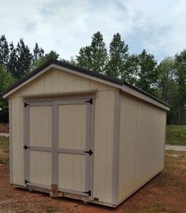 Utility Shed 10x16 - Navajo White Image